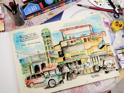 Jambi in watercolors