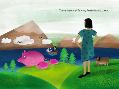 Jeanny and her lost dogs: Picture book